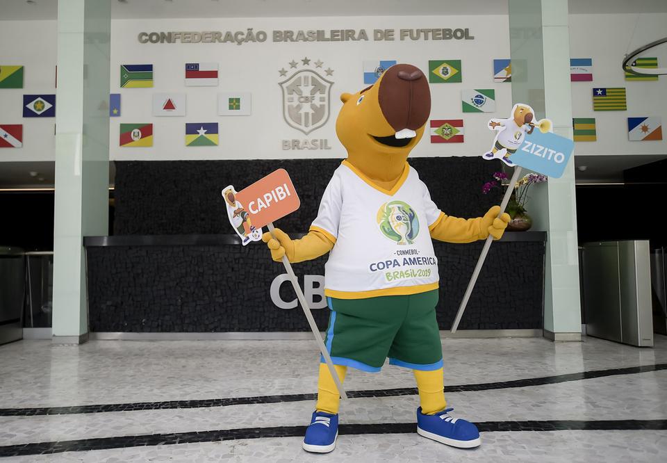 Popular na Lagoa da Pampulha, capivara da Copa América ainda não tem nome